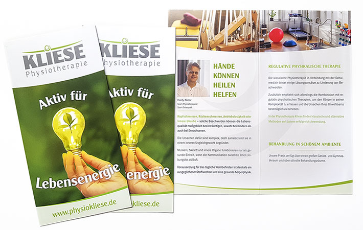 Informationsfolder Physiotherapie Hardy Kliese